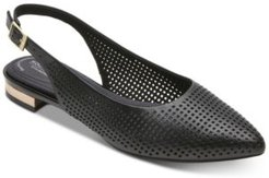 Adelyn Perforated Slingback Flats Women's Shoes