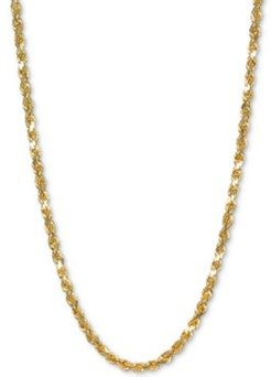"Rope 18"" Chain Necklace in 14k Gold"
