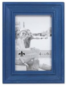 "Durham Weathered Navy Blue Wood Picture Frame - 4"" x 6"""