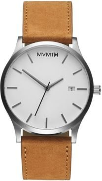 Classic Tan Leather Strap Watch 45mm
