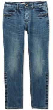 Adaptive Men's Belmore Slim Straight-Fit Power Stretch Jeans with Magnetic Fly and Stay-Put Closure