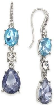 Silver-Tone Stone Drop Earrings, Created For Macy's