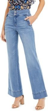 I.n.c. Petite High-Rise Wide-Leg Jeans, Created For Macy's