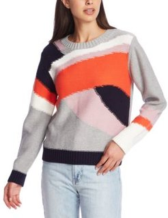Mixed Colorblocked Sweater