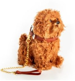 Labradoodle Puppy Dog with Collar and Leash Doll with Pet Accessory