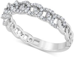 Diamond Chain Link Band (1/5 ct. t.w.) in 10k White Gold
