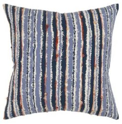 Stripe Polyester Filled Decorative Pillow