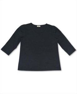 Cotton Puff-Sleeve Top, Created for Macy's