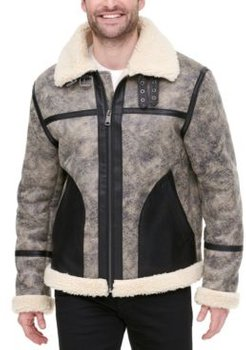 Faux Leather Fleece-Lined Shortie Jacket, Created for Macy's