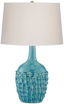 kathy ireland home by Pacific Coast Ceramic Basket Weave Table Lamp