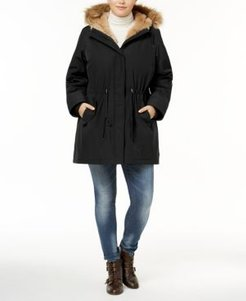 Plus Size Faux-Fur Trimmed Parka