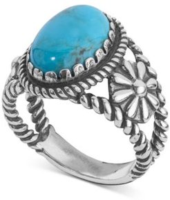 Turquoise Ring (4-1/5 ct. t.w.) in Sterling Silver