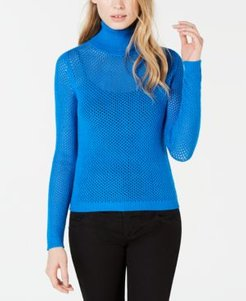 Perforated Pullover Turtleneck Sweater, Created for Macy's