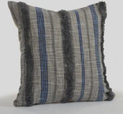 Over tufted Striped Contemporary Nautical Throw Pillow