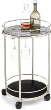 Closeout! Hotel Collection Round Bar Cart, Created for Macy's