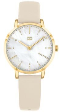 Blush Leather Strap Watch 30mm, Created for Macy's