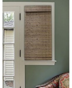 "Cordless Bamboo Dockside Privacy Weave Roman Shade, 35"" x 64"""