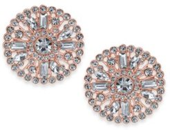 Inc Rose Gold-Tone Crystal Cluster Stud Earrings, Created for Macy's