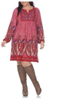 Plus Size Apolline Embroidered Sweater Dress