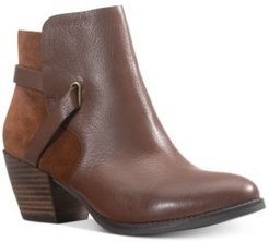 Ashlyn Leather Leather Booties, Created for Macy's Women's Shoes