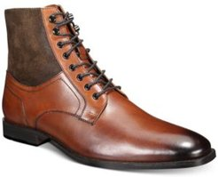 Jerry Leather & Suede Lace-Up Boots, Created for Macy's Men's Shoes