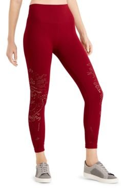 Seamless Perforated High-Rise Leggings, Created for Macy's