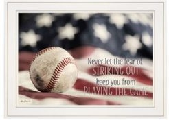 "Baseball - Playing the Game by Lori Deiter, Ready to hang Framed Print, White Frame, 21"" x 15"""