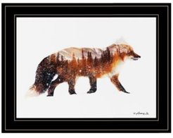 "Arctic Red Fox by andreas Lie, Ready to hang Framed Print, Black Frame, 15"" x 19"""