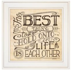 "Each Other by Deb Strain, Ready to hang Framed Print, White Frame, 15"" x 15"""