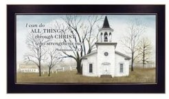 "I Can Do All Things By Billy Jacobs, Printed Wall Art, Ready to hang, Black Frame, 20"" x 11"""