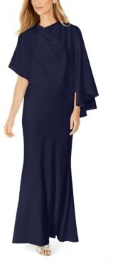 Draped Capelet Gown