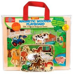Farm Animals, Horses and Vehicles Wooden Magnetic Playboard Set