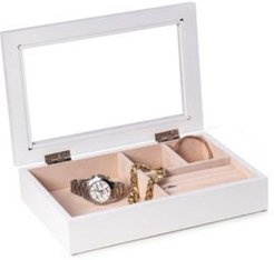 Jewelry Box with Glass Viewing Top