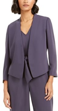 Collarless Open-Front Jacket, Created for Macy's