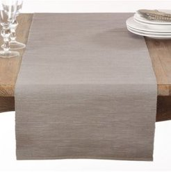 Taupe Ribbed Table Runner