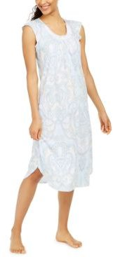 Lace-Trim Printed Nightgown