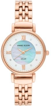 Considered Solar Powered Rose Gold-Tone Bracelet Watch 30mm