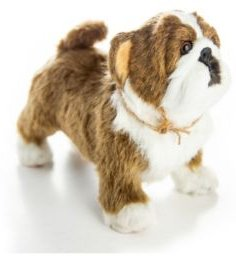 """Officially Licensed Little House on The Prairie Bulldog """"Jack"""" Pet Companion with Jute Rope Collar"""