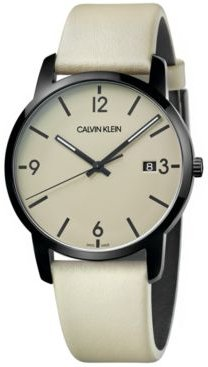 City Tan Leather Strap Watch 43mm