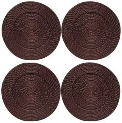 Jay Import American Atelier Set/4 Round Rattan Charger Plate
