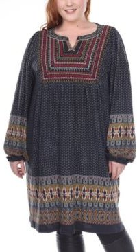 Plus Size Atarah Embroidered Sweater Dress