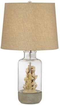 Faux Coral Table Lamp