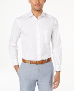 Classic/Regular Fit Performance Stretch Pinpoint Solid French Cuff Dress Shirt, Created for Macy's