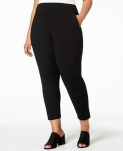 System Plus Size Stretch Jersey Pull-On Pants