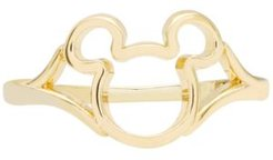Children's Mickey Mouse Silhouette Ring in 14k Gold