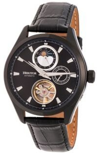 Automatic Sebastian Black Leather Watches 40mm