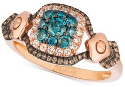 Exotics Diamond Halo Cluster Ring (5/8 ct. t.w.) in 14k Rose Gold