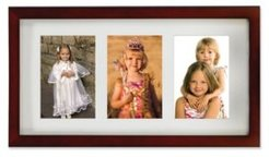 """Walnut Wood Triple Matted Picture Frame - 4"""" x 6"""""""