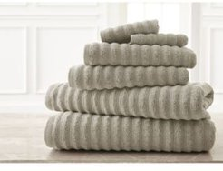 Wavy Luxury Spa Collection 6-Pc. Quick Dry Towel Set Bedding