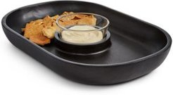 Black Wood Chip & Dip Bowl, Created for Macy's